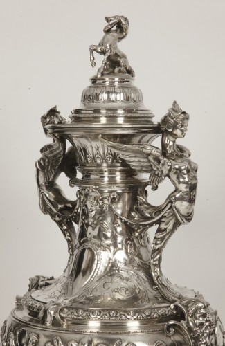 Antique Silver  - Rare and spectacular covered