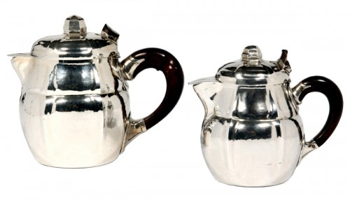 SET OF TWO SILVER TEASERS BY G.LECOMTE XXE