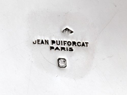 Silver serving dish by JEAN PUIFORCAT - Antique Silver Style Art Déco
