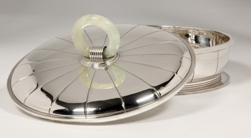 20th century - Silver serving dish by JEAN PUIFORCAT