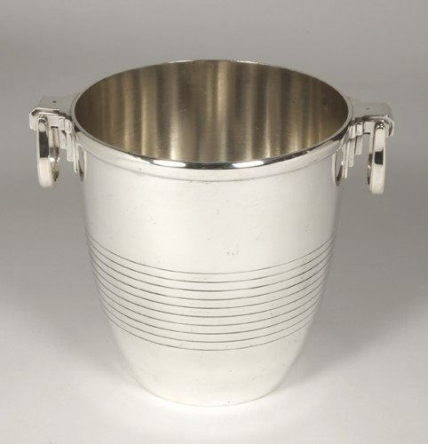 Campenouth - Wine cooler in solid Silver - CIRCA 1930 - Antique Silver Style Art Déco
