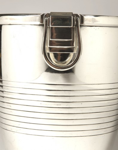 Campenouth - Wine cooler in solid Silver - CIRCA 1930 - Art Déco