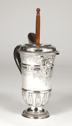 Cardeilhac silversmith - Chocolatière sterling - Antique Silver Style Napoléon III