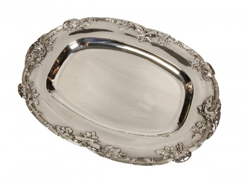 Four silver dishes by C. Christofle