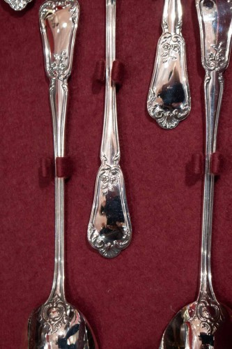 Antiquités - Flatware in sterling silver 1st title Minerva by silversmith HENIN and Co.