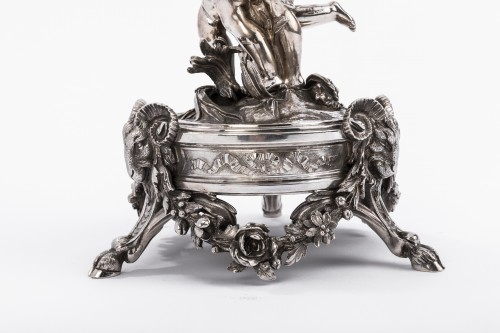 CARDEILHAC - Centerpiece in sterling silver crystal cut engraved  - Napoléon III