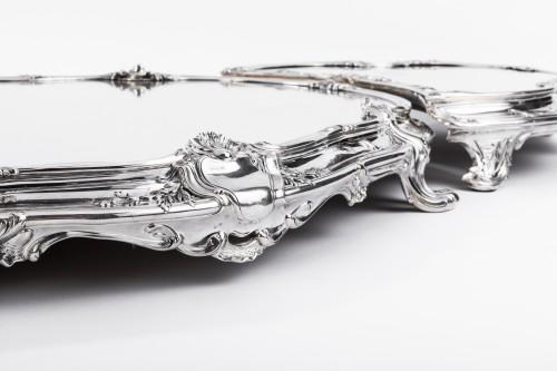 Tétard Frères - important centerpiece of solide silver - Antique Silver Style Napoléon III
