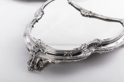Tétard Frères - important centerpiece of solide silver -