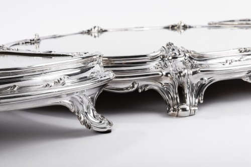 19th century - Tétard Frères - important centerpiece of solide silver