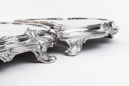 Tétard Frères - important centerpiece of solide silver - Napoléon III