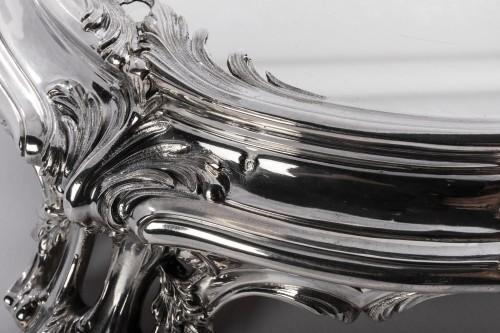 Napoléon III - Tétard Frères - important centerpiece of solide silver