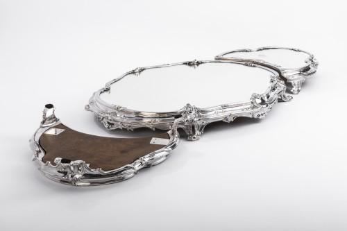 Antiquités - Tétard Frères - important centerpiece of solide silver