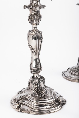 Harleux silversmith paire of candelabra solid silver -