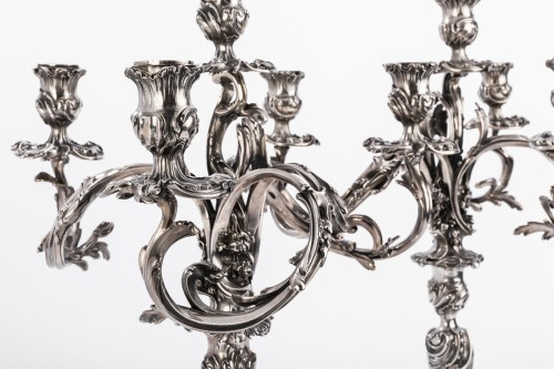 Antiquités - Harleux silversmith paire of candelabra solid silver