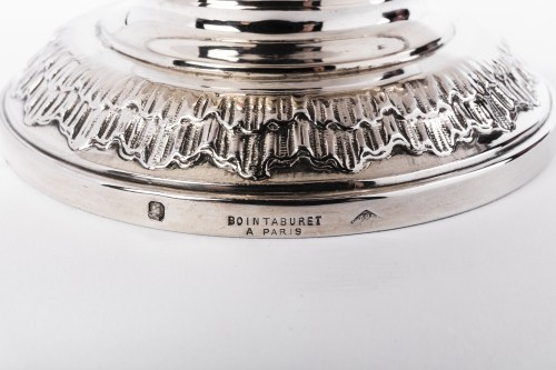 Boin Taburet - Pair of ewers in silver and crystal  -