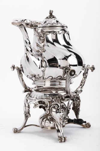 Samovar rocaille in silver by MARTIN Marie Vve -