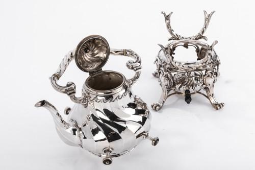Samovar rocaille in silver by MARTIN Marie Vve - Napoléon III