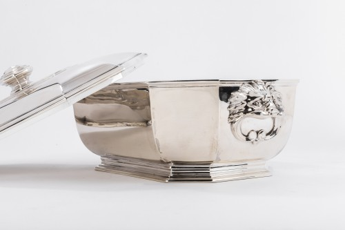 Antique Silver  - Puiforcat -Soup tureen covered in solid silver