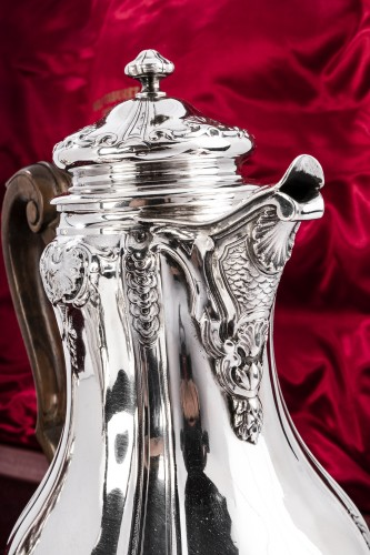 Boin Taburet - Set tea/coffee in silver - Art nouveau