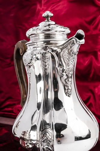 Art nouveau - Boin Taburet - Set tea/coffee in silver