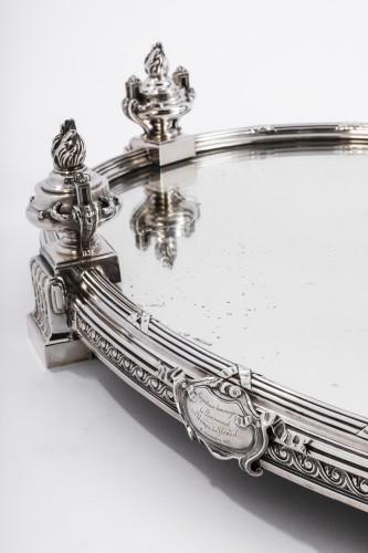 AUCOC & TETARD Solid silver centerpiece - planter agent massif 19TH - Antique Silver Style Napoléon III