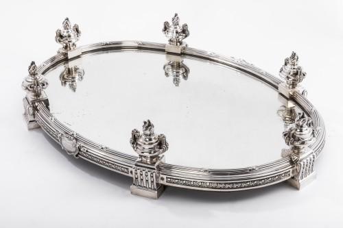 Antique Silver  - AUCOC & TETARD Solid silver centerpiece - planter agent massif 19TH