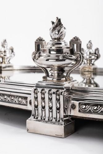 AUCOC & TETARD Solid silver centerpiece - planter agent massif 19TH -