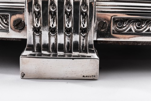 19th century - AUCOC & TETARD Solid silver centerpiece - planter agent massif 19TH