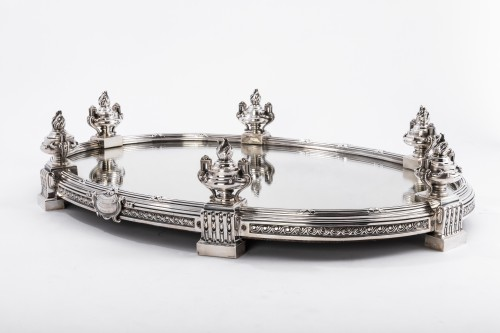 Napoléon III - AUCOC & TETARD Solid silver centerpiece - planter agent massif 19TH