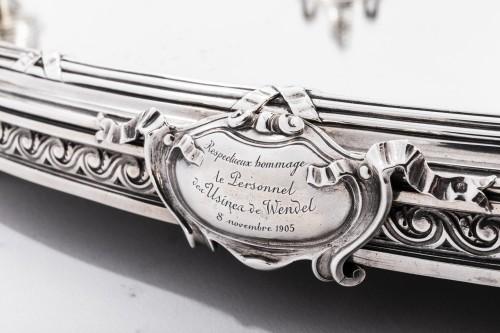 Antiquités - AUCOC & TETARD Solid silver centerpiece - planter agent massif 19TH