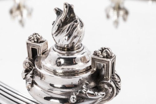Antiquités - Silversmith AUCOC A. Centerpiece in sterling silver