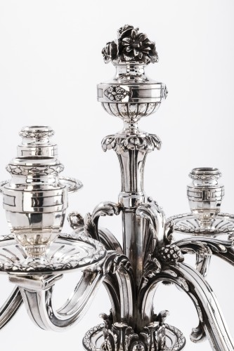 Napoléon III - Silversmith PUIFORCAT - Five-piece sterling silver table set