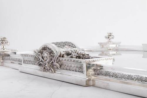 Cardeilhac silversmith - Silver bronze surtout de table - Antique Silver Style Napoléon III