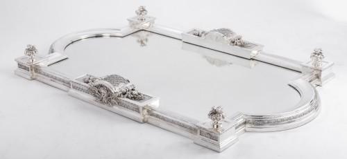 19th century - Cardeilhac silversmith - Silver bronze surtout de table