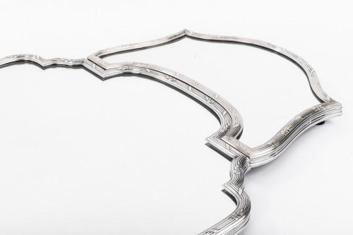 Antique Silver  - Surtout de table en trois parties bronze argenté début XXè