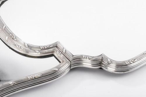 Art nouveau - Surtout de table en trois parties bronze argenté début XXè