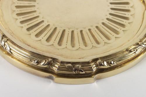 Art nouveau - Goldsmith A.AUCOC - Suite of four 19th century vermeil coasters