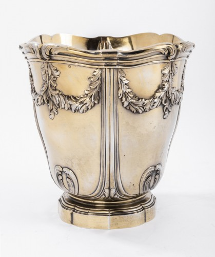 Vermeil COOLER by RISLER & CARRE 19th - Antique Silver Style Art nouveau