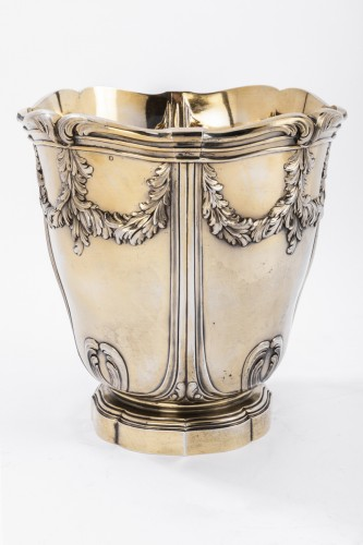 Art nouveau - Vermeil COOLER by RISLER & CARRE 19th