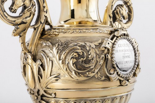 Antique Silver  - Silver and vermeil racing trophy by DUPONCHEL in 1860