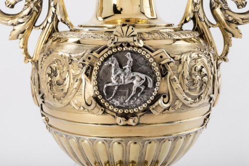 Silver and vermeil racing trophy by DUPONCHEL in 1860 - Napoléon III