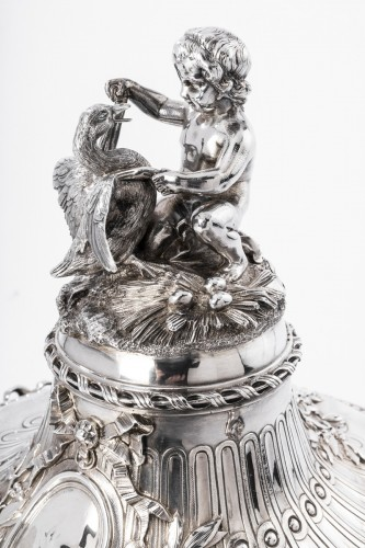 Napoléon III - Important Vegetable covered in silver by the goldsmith GUSTAVE ODIOT XIXth