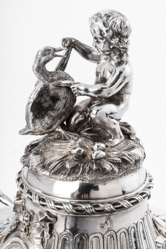 Antiquités - Important Vegetable covered in silver by the goldsmith GUSTAVE ODIOT XIXth