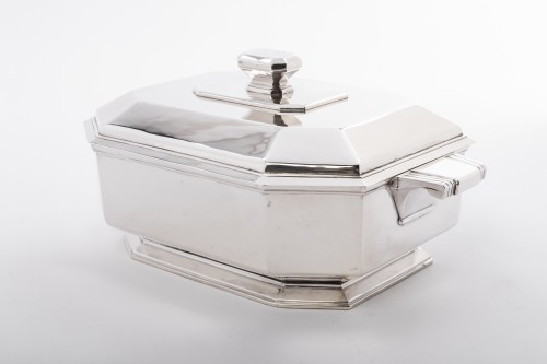 Antiquités - Vegetable dish covered in silver Art deco period by Lapparra
