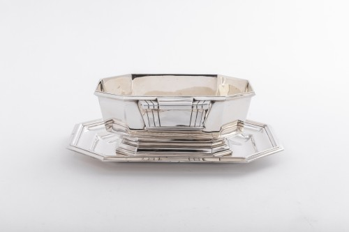 Antique Silver  - Art deco silver sauce boat by Lappara
