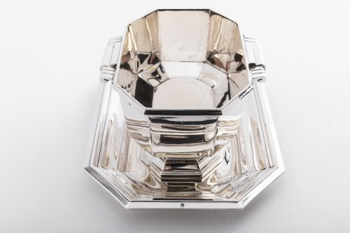 20th century - Art deco silver sauce boat by Lappara