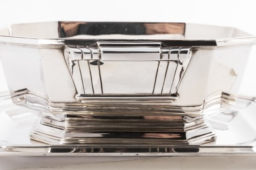 Antiquités - Art deco silver sauce boat by Lappara