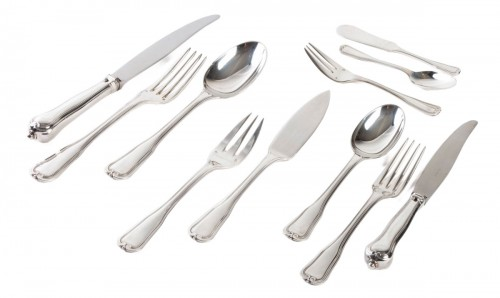 PUIFORCAT Cutlery set in sterling silver 180 pieces CHOISEUL