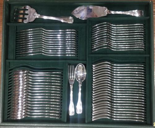 Antique Silver  - PUIFORCAT Cutlery set in sterling silver 180 pieces CHOISEUL