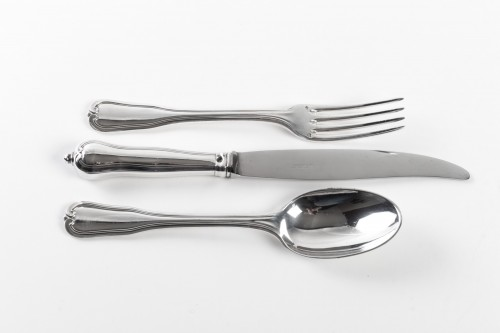 PUIFORCAT Cutlery set in sterling silver 186 pieces CHOISEUL  - 50